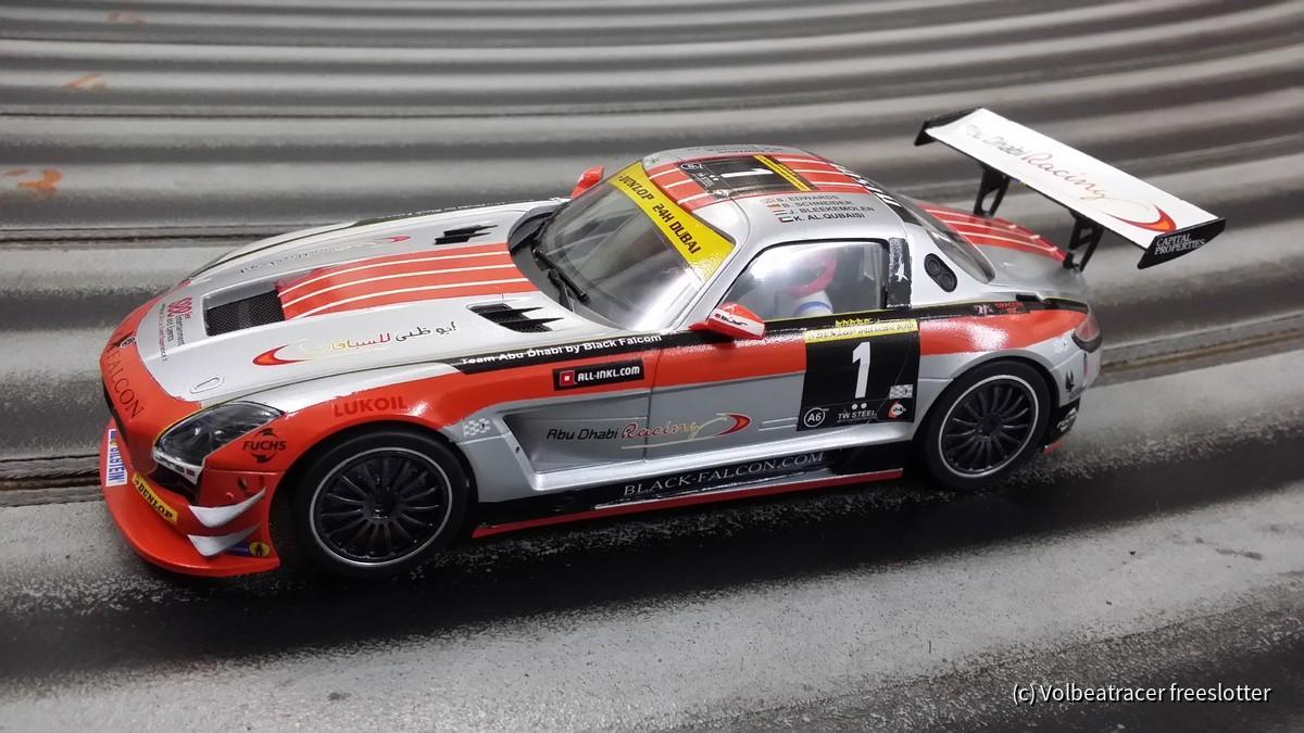 Mercedes SLS 24h Dubai 2013 Team Abu Dhabi