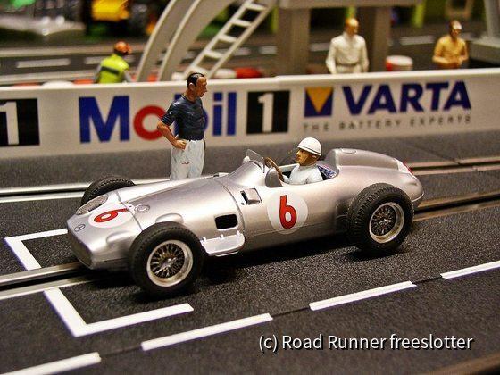 F1 '55, Cartrix Mercedes-Benz W196, Stirling Moss u. Juan Manuel Fangio