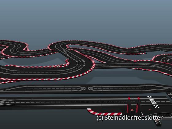 Gartenstadt Motodrom 3D - Blick auf Bahn
