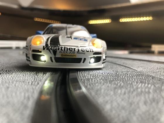 Lichtspiele beim Porschecup GT3