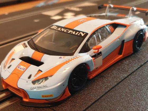 Sideways Lamborghini GT3 Gulf Racing