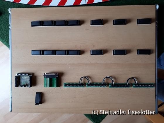 Stromverteiler und Sub-D-Stecker
