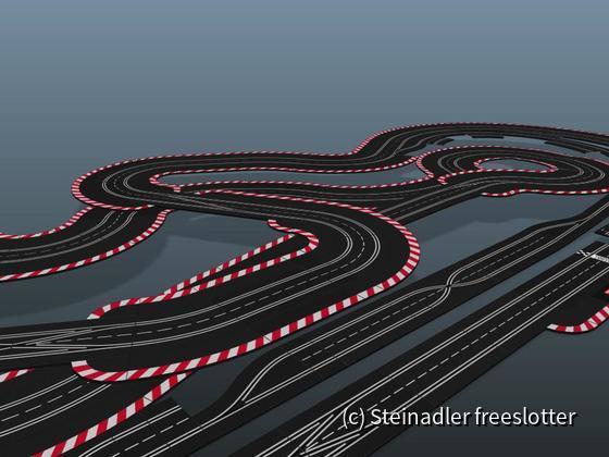 Gartenstadt Motodrom 3D - Blick nach rechts