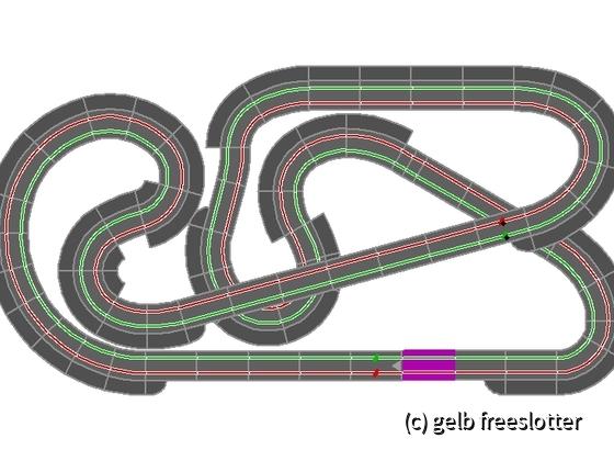 4,36m x 2,22 m - Bahnlänge 19,14m