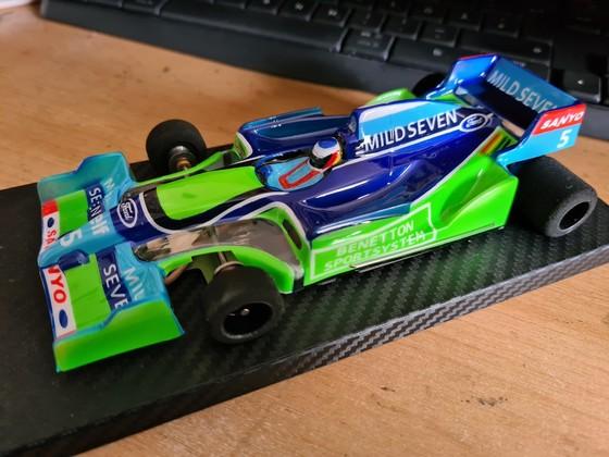JK Open Box Benetton Ford Michael Schumacher