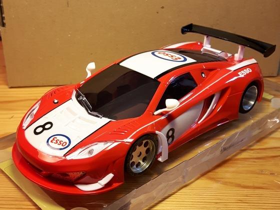 McLaren 12c,  Kyosho whitekit  , 1/28 , SDR CHASSIS