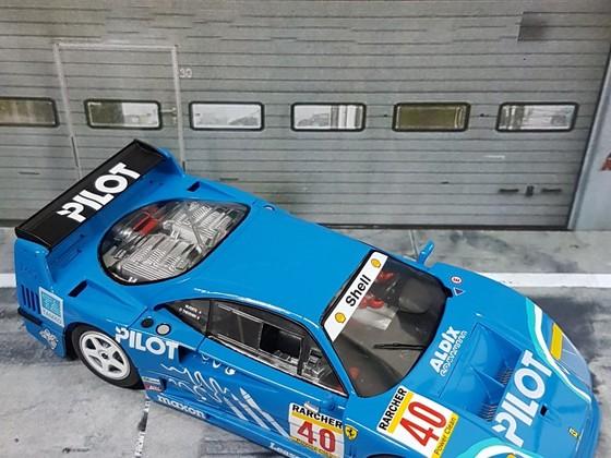 Policar Ferrari F40 Pilot #40 Michel Ferté, Olivier Thévenin 2nd 4h Silverstone 1995