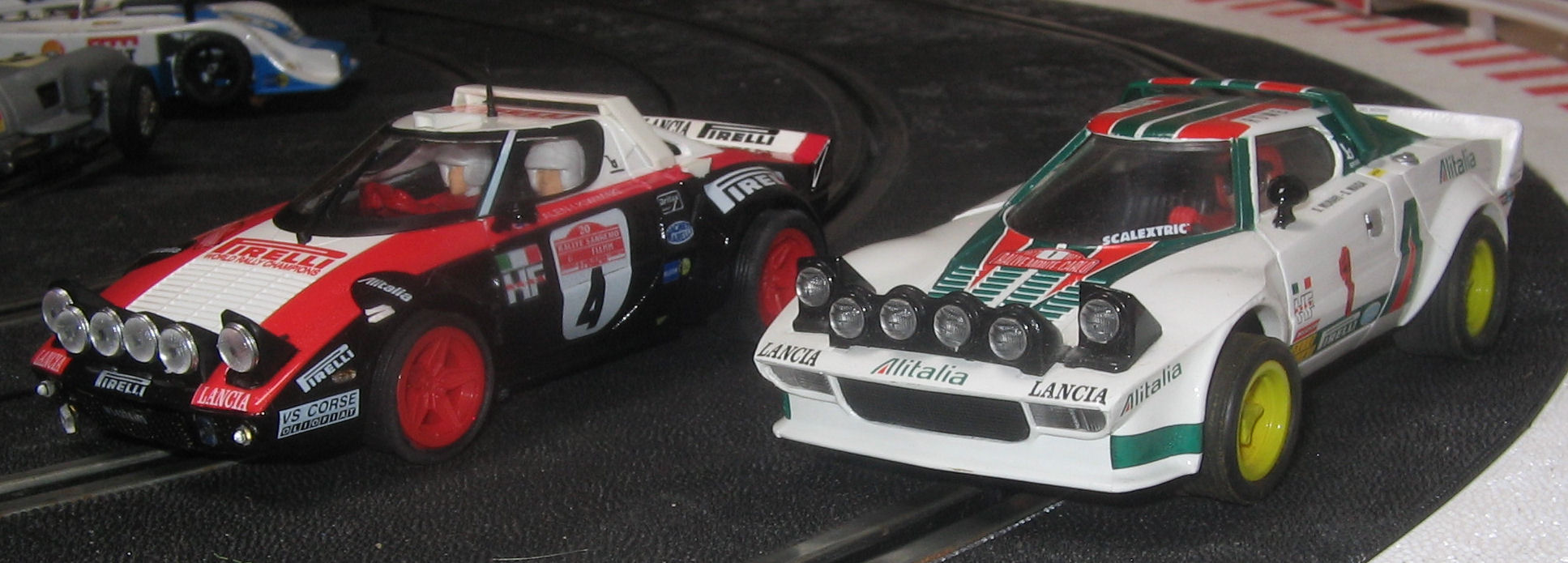 lancia stratos: teamslot 11502 rally san remo 1978 & scx altaya