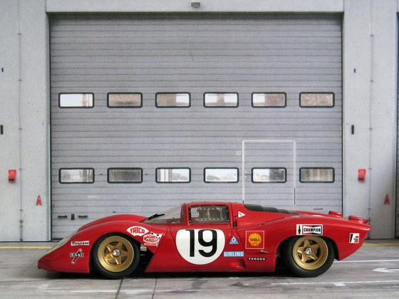 Ferrari 312 P # 19 - 24 hrs Le Mans 1969 - diven by C. Amon & P. Schetty