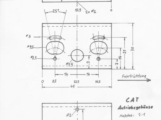 Zeichnung Antriebsgehäuse