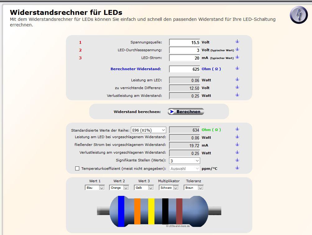widerstand f r led berechnen elektronik freeslotter. Black Bedroom Furniture Sets. Home Design Ideas