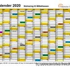 Rennkalender SIM 2020 mit Legende 2019-10-05