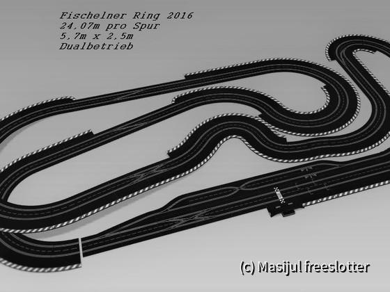 Fischelner Ring 2016 5,7m x 2,5m 24,076m pro Spur digital