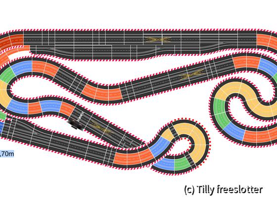 6,43 x 2,69  ca. 27m mit Steilkurve (links)