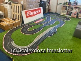 Track set-up for my weekly races with friends at my office warehouse