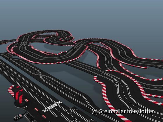 Gartenstadt Motodrom 3D - Blick nach links
