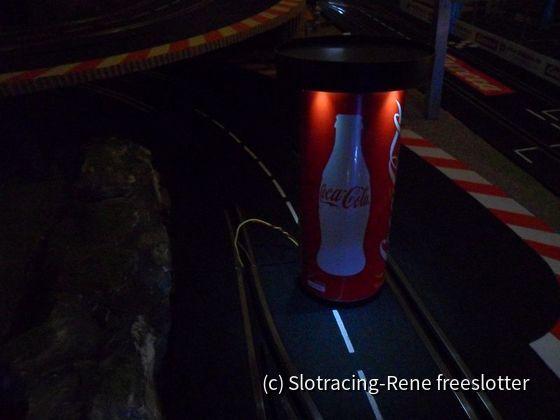 Coca Cola Werbesäule