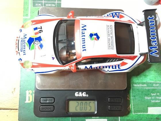 25 NSR GT3 Porsche Karogewicht